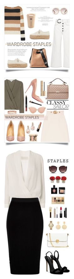 """Winners for Tried and True: Wardrobe Staples"" by polyvore ❤ liked on Polyvore featuring Superga, Jil Sander, MaxMara, Rejina Pyo, Chloé, WardrobeStaples, Gucci, Diane Von Furstenberg, Christian Louboutin and NARS Cosmetics"