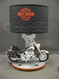 Harley Davidson Model Motorcycle Collector's Lamp