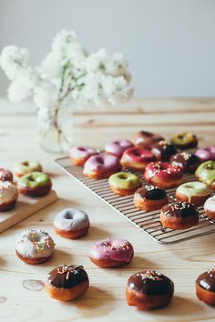 BISCUIT DONUTS WITH NATURALLY COLORED GLAZES | My Name is Yeh