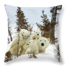 Mom's Love Polyester Cushion(No Filler)Mothers and Their Young Cushion Covers