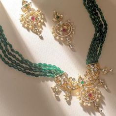 Wedding Jewelry, Jewelry Box, Jewellery, Necklace Set, Beaded Necklace, Ethnic Outfits, Imitation Jewelry, Green Onyx, Jewelry Trends