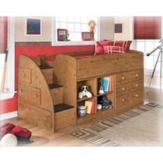 Stages Storage Loft Kids Bed from Homelife - combined bed and dresser, perfect for shared rooms