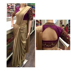 1,114 likerklikk, 8 kommentarer – Bridal Set Blouse Neck Patterns, Silk Saree Blouse Designs, Set Saree, Saree Dress, Indian Sarees, Silk Sarees, Saris, Ethnic Outfits, Indian Outfits