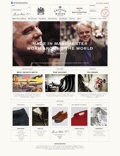 A website design that takes inspiration from the history and heritage of British manufacturing