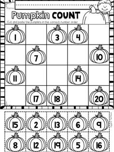 Numbers 1-20: Worksheets and center activities to