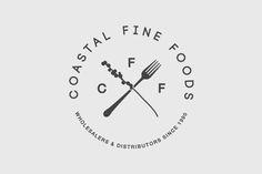 Branding for Coffs Harbour based fine food wholesalers, Coastal Fine Foods. Letterpress cards with blind emboss and hand stamped details