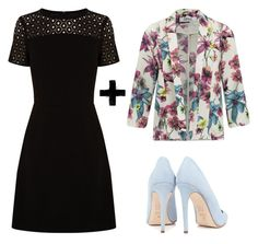 """""""preto + floral"""" by gessilene-ferreira on Polyvore featuring moda, Oasis, ONLY e Dee Keller"""