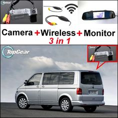 68.48$  Buy now - http://alibil.worldwells.pw/go.php?t=32470119361 - 3 in1 Special Camera + Wireless Receiver + Mirror Monitor DIY Parking System For Volkswagen VW T5 Transporter Caravelle Multivan