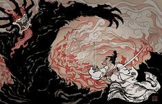 Samurai Jack vs. Aku by uzi91.deviantart.com on @deviantART