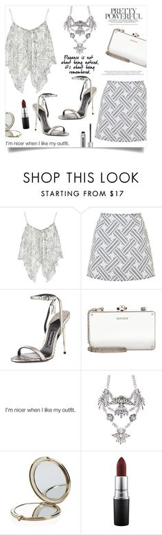 """""""Ice queen"""" by anchilly23 ❤ liked on Polyvore featuring Elizabeth and James, Topshop, Tom Ford, Miu Miu, Henri Bendel, MAC Cosmetics and Bare Escentuals"""