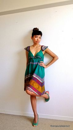 Green dress by verypurpleperson, via Flickr