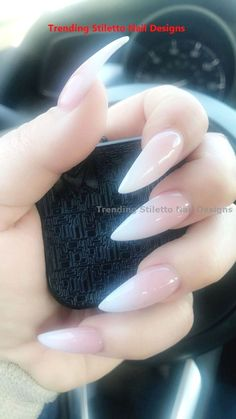 Long french tip nails, french stiletto nails, ombre french nails, cof French Stiletto Nails, Long French Tip Nails, Ombre French Nails, Acrylic Nails Stiletto, Pointy Nails, Long Nails, Coffin Nails, Summer Stiletto Nails, Natural Stiletto Nails