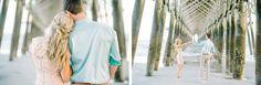 Dancing under the pier at FOLLY BEACH! CHARLESTON, SOUTH CAROLINA ENGAGEMENT PHOTOS by wedding photographers, Aaron and Jillian Photography // Hair & Makeup by Ash & Co Bridal