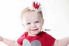 Queen of Hearts, Valentine Headband, Heart Headband, Baby Crown Headband, Valentine's Day, Valentines Day Headband, Tiara Headband