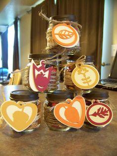 Autumn Candy Jars