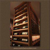 End Cap display for custom #wineroom more #winestorage at http://www.rosehillwinecellars.com/ #wine