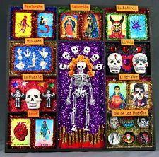 Shrines sugar skull nicho loteria shadow box loteria