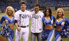 "The Tampa Bay Lightning will celebrated their 20th anniversary in the 2012 season. On September 21st, the Lightning celebrated this upcoming milestone at Tropicana Field. Head coach Guy Boucher ""threw"" out the first pitch to Rays catcher Stephen Vogt by using a hockey stick."