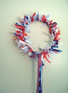 Ribbon wreath craft