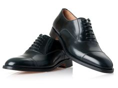 SHOEPASSION.com - No. 456 - Rahmengenähter schwarzer Captoe Oxford aus Cordovan
