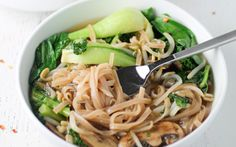 Bok Choy and Brown Rice Noodle Bowl [Vegan, Gluten-Free] | One Green Planet