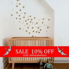 Sale  Small Stars  Kids vinyl Wall Sticker by SimpleShapes on Etsy