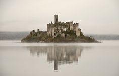 The ruins of Castle Island, Roscommon, Ireland