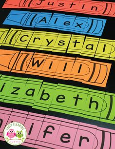 Make customized crayon name puzzles for your class. Teach name recognition and teach kids how to spell their names with these editable crayon puzzle templates. A perfect activity for your writing center, literacy center, morning work, and ELA work stations in preschool, pre-k, kindergarten, RTI, SPED. The editable document includes two styles of crayon puzzles and can be created for names with 2-12 letters. This resource is part of the Name Puzzle Bundle. If you purchase the money-saving bundle,