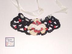 Bohemian Necklace  Bib Necklace  Black  by ChristieCottage.net