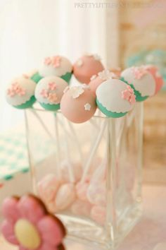 cake pops ideas | Birthday Party with Lots of Really Cute Ideas via Kara's Party Ideas ...