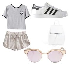 """""""A day in summer"""" by maryoneal on Polyvore featuring Lucky Brand, Chicnova Fashion, adidas, Mansur Gavriel and Le Specs"""