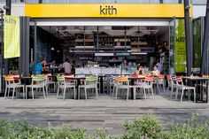 Kith Café | Singapore goes the extra yard to avoid generic looking outlets by sourcing local design teams to create welcoming, crisp spaces. #RetailDesign #Singapore #Cafe
