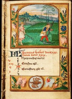 June - Book of Hours in Latin and Dutch (use of Liège), Diocese Liège (Maastricht?), Franciscus Verheyden (scribe); c. 1500-1525 - The Hague, Koninklijke Bibliotheek, 133 D 11