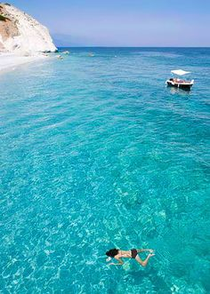 Swimming in paradise! Lalaria beach, Skiathos