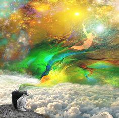 Free Mind-   A painting of Orit Martin  - Jewish art, art, prints, Kabbalah, spiritual art, awareness,  jewish meditation, Jewish consciousness, spiritual light, מדיטציה יהודית , התבוננות, מודעות רוחניות תודעה יהודית, אמנות רוחנית, אור רוחני, אמנות דיגיטלית, אורית מרטין