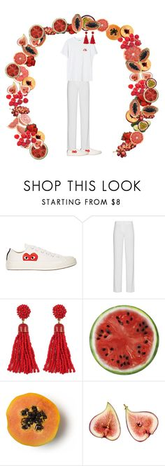 """""""fruit"""" by frederikkematilder ❤ liked on Polyvore featuring Play Comme des Garçons, DKNY, Ganni and Round Towel Co."""