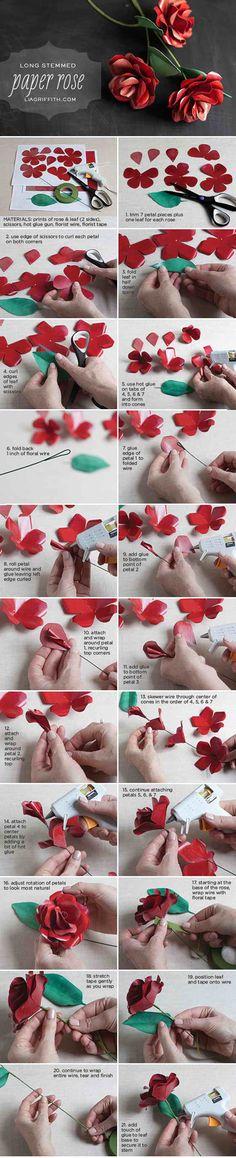 Make a Long Stemmed Red Rose for Your Valentine