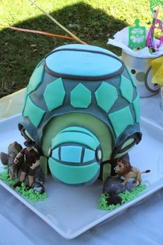 Wild Kratts Tortuga Cake