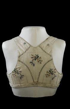 bodice empress josephine back 1800s Fashion, 19th Century Fashion, Vintage Fashion, Historical Costume, Historical Clothing, Corsage, Regency Dress, Regency Era, Mode Costume