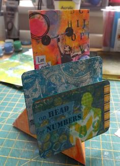 A little stand that can act as a display for ATCs. But it's so much more… ScrappyStickyInkyMess