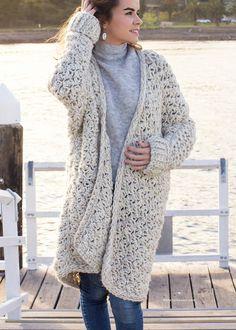 Ravelry: Coastal Fog Chunky Cardigan pattern by Olivia Kent Crochet Motifs, Basic Crochet Stitches, Crochet Basics, Crochet Patterns, Shawl Patterns, Stitch Patterns, Knitting Patterns, Crochet Cardigan Pattern, Crochet Shawl