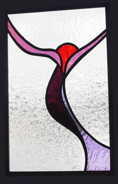 Abstract stained glass window art panel