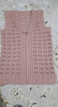 Ravelry: Project Gallery for D Baby Knitting Patterns, Crochet Vest Pattern, Arm Knitting, Jacket Pattern, Knitting Designs, Crochet Stitches, Crochet Patterns, Crochet Baby, Crochet Top
