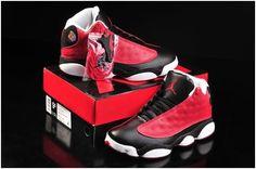 72ab558565fcd1 Men And Women Air Jordan Retro 13 Jordan 13 Basketball Shoes Lovers A Black  Red White