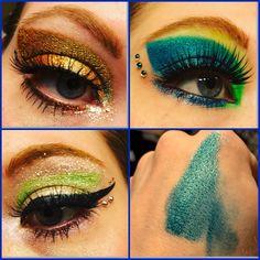 Duochrome Eyeshadow, Vegas, Homemade, Makeup, Earrings, Shop, Etsy, Jewelry, Make Up