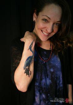 blue heron watercolor - Google Search