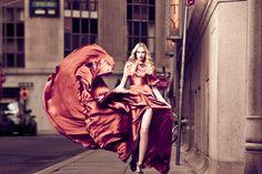 Orange Swirl: Valeria Dmitrienko by Rony Shram for Modern Luxury