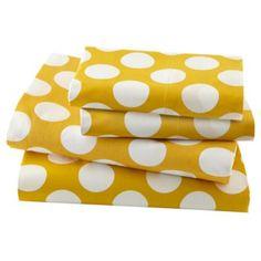New School Kids Sheet Set (Yellow Dot)  | LandOfNod