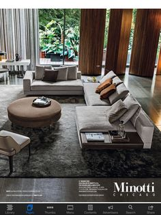 Minotti Sofa--this would look so great in our living room. Living Room Modern, Living Room Sofa, Living Room Interior, Home Living Room, Living Room Designs, Sofa Design, Furniture Design, Modern Furniture, Interior Architecture