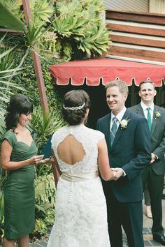 Keyhole back. Allure Couture. Photography: onelove photography - onelove-photo.com  Read More: http://www.stylemepretty.com/2014/02/28/botanical-inspired-wedding-at-marvimon/